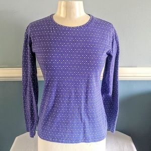 Liz Claiborne Purple Top size Small